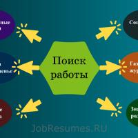 Спайдограмма «Где можно найти работу»